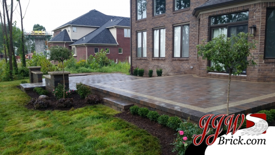 paver patio photos | patios photo gallery | jjw brick.com, mi - Brick Stone Patio Designs