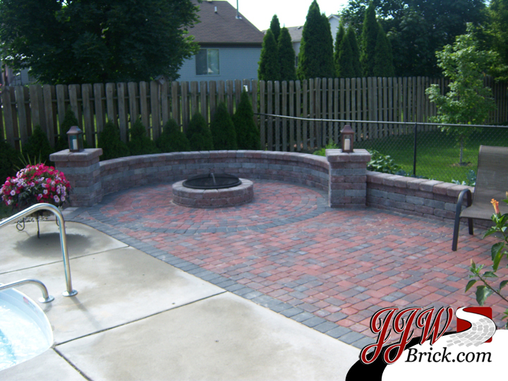 Brick Patio Fire Pit Macomb MI
