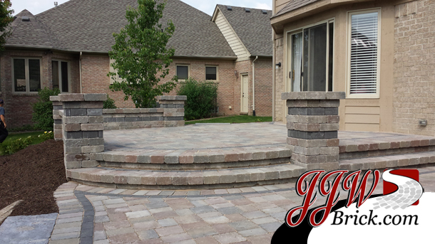 Brick Pillars for Patio Shelby Twp. MI