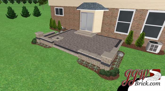 troy brick patio vision 2 - Brick Paver Patio Designs