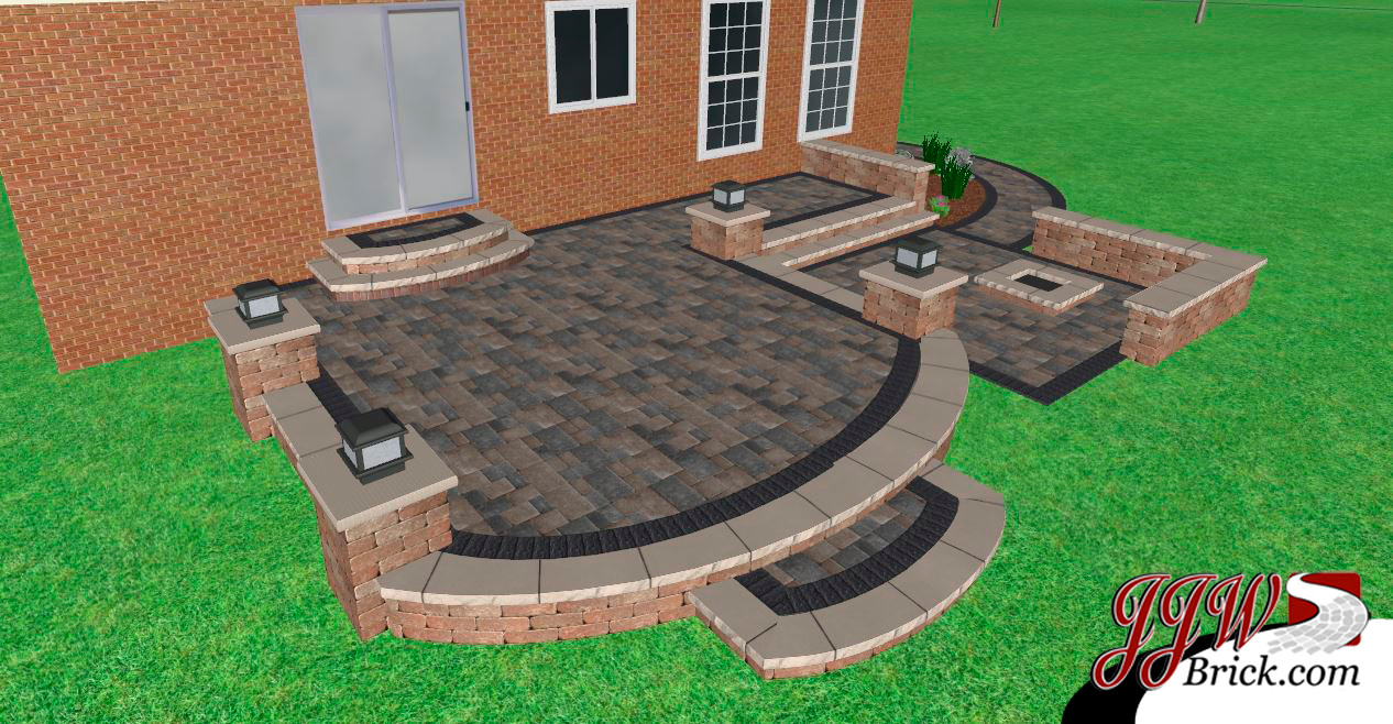 paver brick patio design macomb mi - Patio Brick Designs