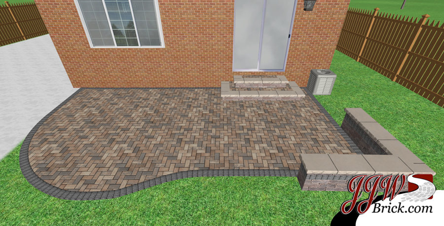 Small Paver Patio Design in Birmingham, MI 48009 | Brick Paving ...