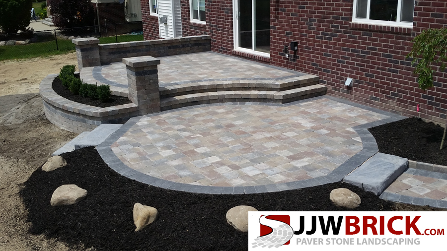 Raised Brick Paver Patio Design Installation Chesterfield Mi