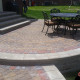 New Brick Paver Patio with Outdoor Fire Place in Washington MI 48094